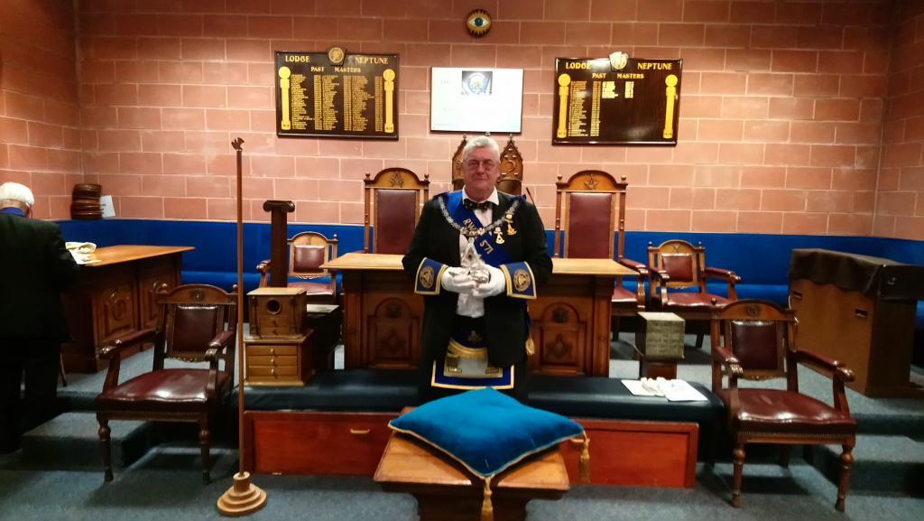 December, 2017, RWM Bro Sinclair Stewart
